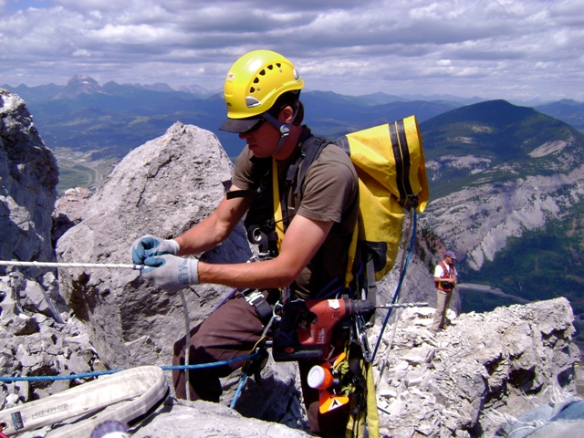 Frank Slide - Rope Access
